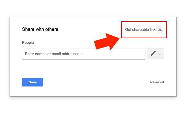 google doc shareable