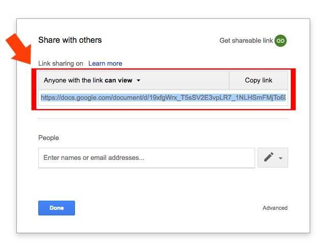 google docs link